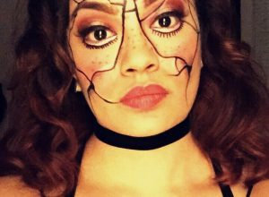 Halloween make-up en haar